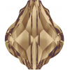SWAROVSKI®  5058 Baroque Bead  Light Smoked Topaz