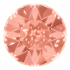 AURORA   A1201  Fancy Chaton Silver Foiled Padparadscha