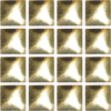 Alu Strass Nailheads Hotfix square Gold