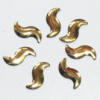 Alu Strass Nailheads Hotfix Leaf Gold