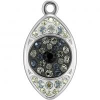 SWAROVSKI® 67534 Eye Pendant  Crystal Silver Night