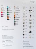 SWAROVSKI Sew-On Colour Chart 2015